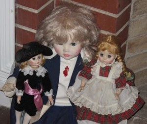 Picture of three dolls